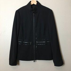 CARLISLE size 10 black Blazer-wool blend
